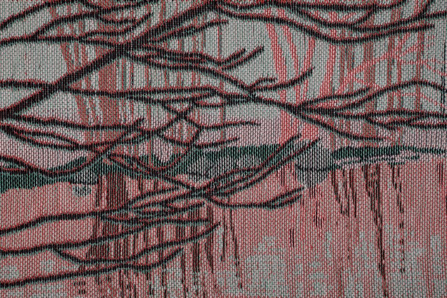 Cadence 2018  147 x 220 cm Digital jacquard weaving, braided synthetic fibres